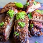 Smoked Lamb Ribs with dry rub