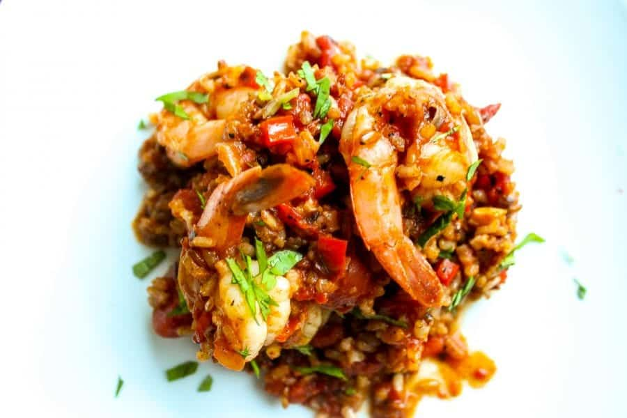 Red Rice with Shrimp