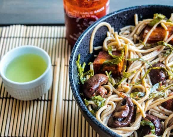 """""""Let's Do It Again"""" Soba Noodle Bowl With Sweet Potatoes and Collard Greens"""