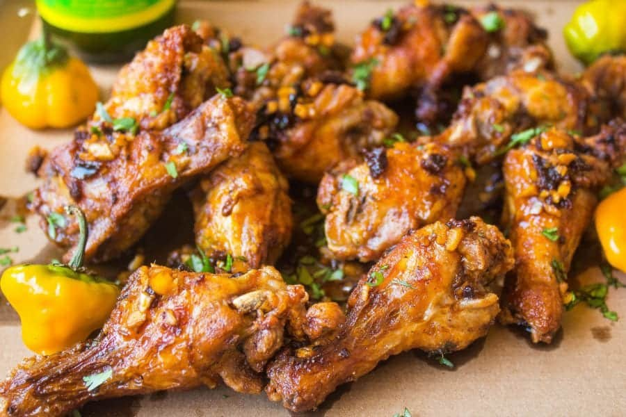 Fried Asian Jerk Chicken Wings
