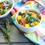 bowl of caribbean callaloo soup