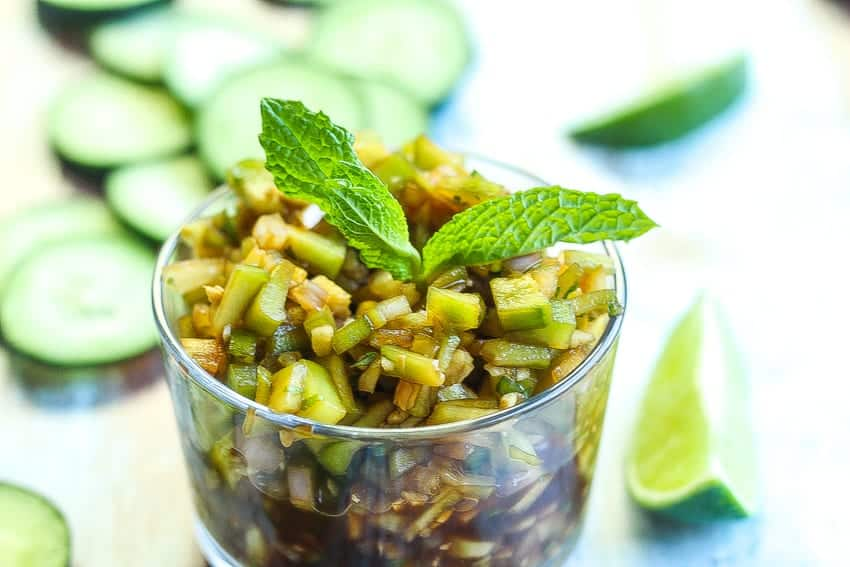 cucumber sambal condiment for meats and seafood www.foodfidelity.com #condiment #sauce #relish