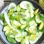 """You Are What I'm All About"" Cucumber Salad with Garlicky Herb Vinaigrette"