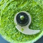 baby kale pesto in food processor