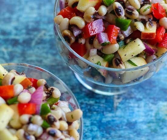 """Don't Disturb This Groove"" Quick and Easy black-eyed pea salad"
