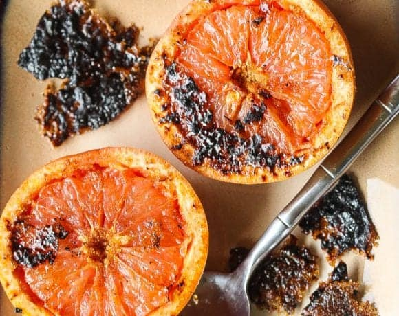 """You Can't Hold The Torch"" Quick and Easy Grapefruit Brulee"
