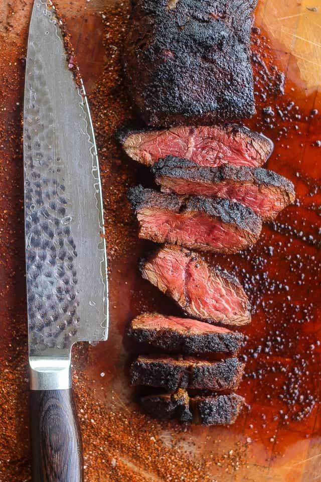 coffee rubbed hanger steak