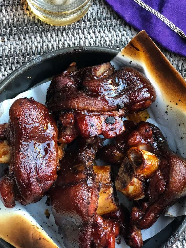 braised smoked ham hocks