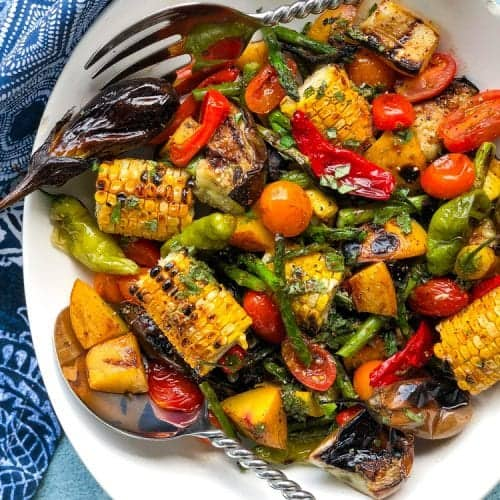 """Shook Ones"" Grilled Vegetable Salad"