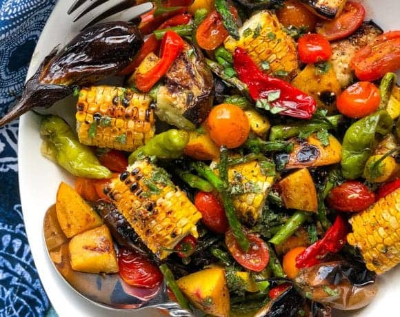 grilled vegetable salad with citrus herb vinaigrette