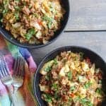 """choices"" Quick and Easy Cabbage Ground Beef Stir Fry"