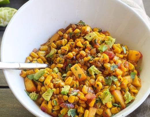 """""""Charcoal Baby"""" Quick and Flavorful Southwestern Corn Saute"""