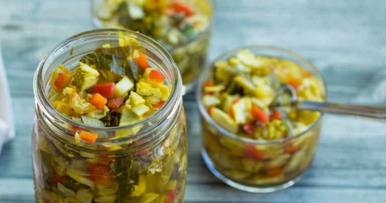 """""""Hype You Up"""" Southern Relish (collard greens chow chow recipe)"""