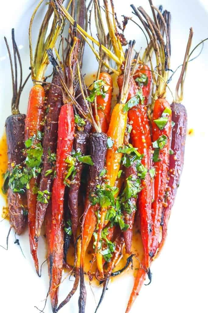 harissa glazed carrots