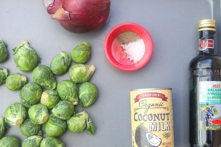 instant pot brussel sprouts ingredients