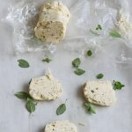 slices of compound butter on parchment paper