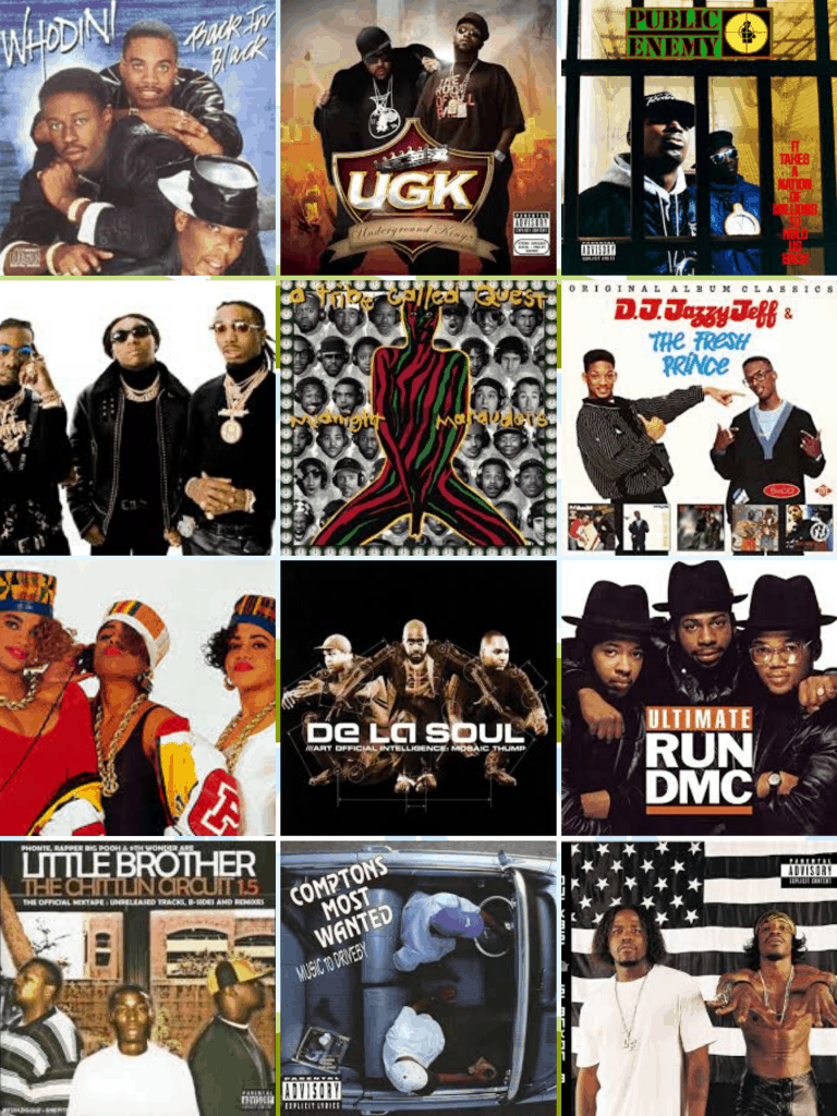 hip hop groups collage
