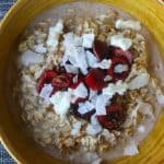oatmeal with cherries and coconut milk